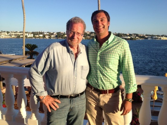 David LaHuta and Peter Greenberg in Bermuda